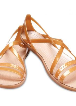 """crocs"" isabella cut strappy босоножки  w9."