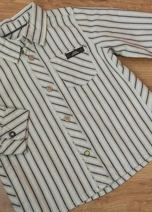 Big sale! новая нарядная рубашка длинный рукав miniman на 18 мес