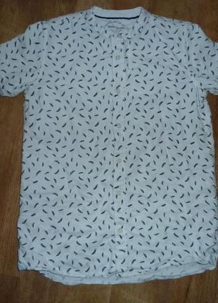 Котоновая рубашка на 11-12 лет river island
