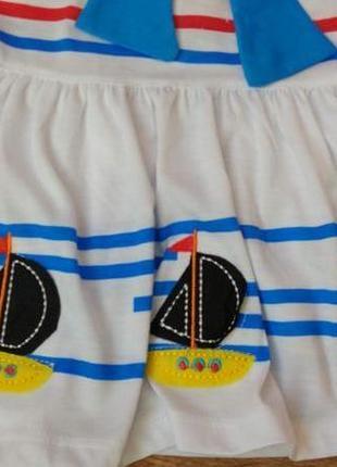 Новый комплект набор платье и шорты турция на 1-2 года3 фото