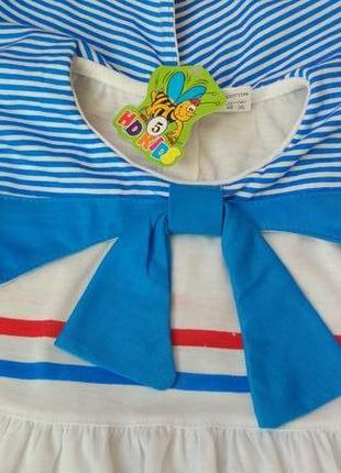 Новый комплект набор платье и шорты турция на 1-2 года4 фото