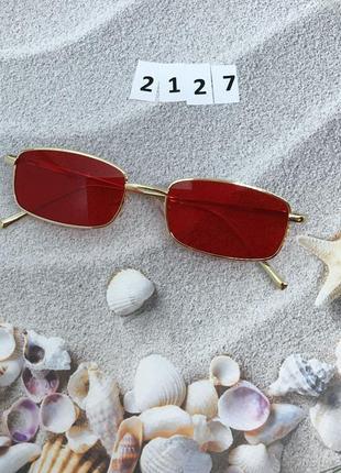 Солнцезащитные очки с красными линзами  к.2127
