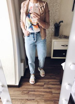 Мармурові мом джинси р-р