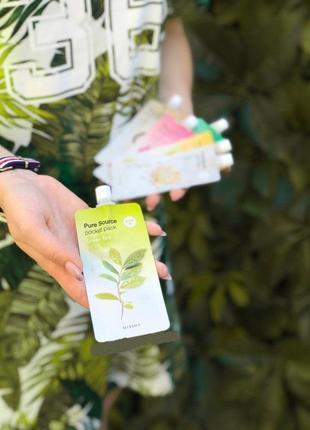 Компактные маски для лица missha с зелёным чаем оригинал корея
