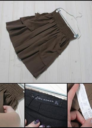 Zara.шикарная юбка с накладными карманами.