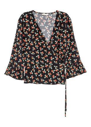 Стильная блуза принт рукав клеш 1+1=3 🎁