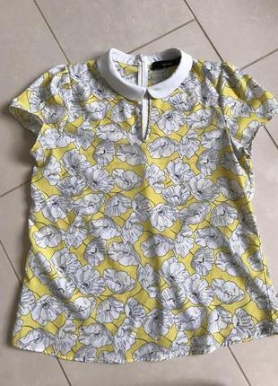Блузочка фирменная модная милая дорогой бренд hallhuber размер 38 или м