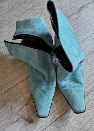 Полусапожеки голубые
