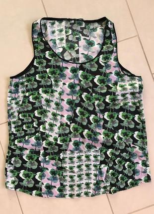Блуза шёлковая майка топ фирменный дорогой бренд gerard darel размер m-l