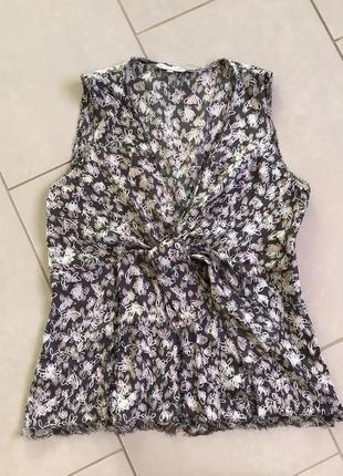 Блуза шёлковая майка топ фирменный дорогой бренд gerard darel размер s