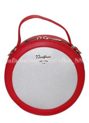 Клатч, сумка через плечо david jones 5059 красный/серебро