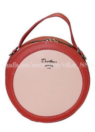 Клатч, сумка через плечо david jones 5059 красный/розовый