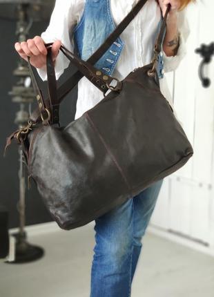 Aitems 100% оригинальная датская большая кожаная сумка.3