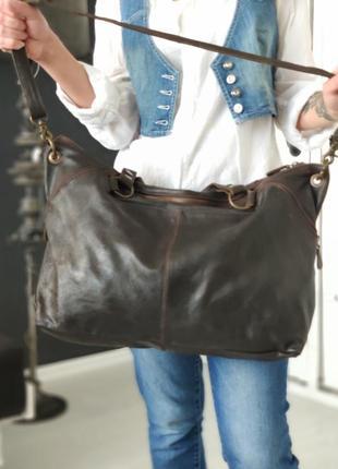 Aitems 100% оригинальная датская большая кожаная сумка.5