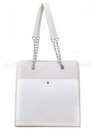 Женская сумка-шоппер david jones 5904 белая
