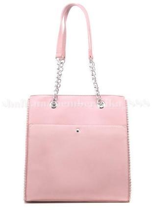 Женская сумка-шоппер david jones 5904 розовая