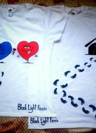 Парные футболки. новые. ручная роспись. размеры xs, s, m, l, xl, xxl.