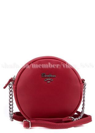 Клатч, сумка через плечо david jones 5969-2 красный