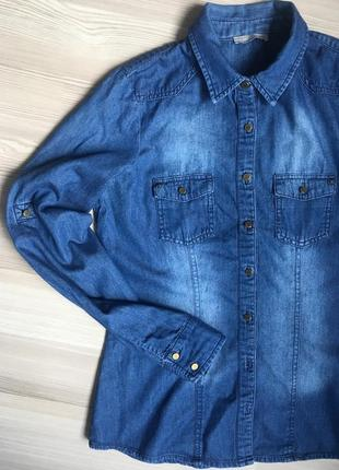 Джинсовая рубашка orsay