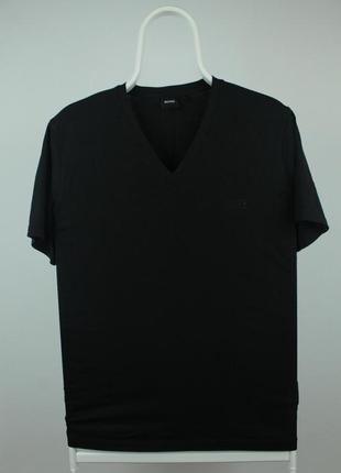 Hugoboss базовая чёрная футболка высокого качества