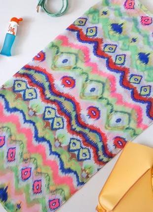 Большой весенний шарф 100 % вискоза трендовая неоновая расцветка можно носить как парео