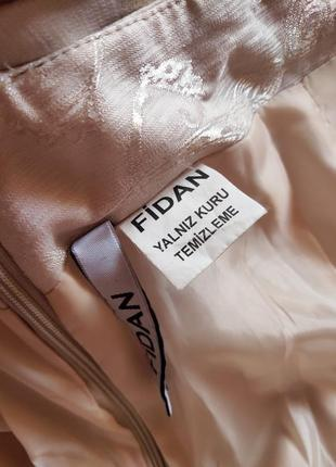 Пудровая длинная юбка с принтом fidan5