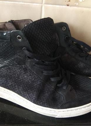 Шикарные кожаные кроссовки gabor 27см германия