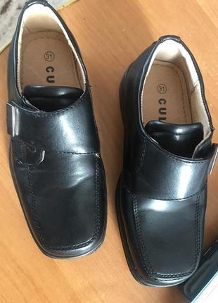 Классные туфли на  липучке  на мальчика 31 раз и мокасины кожаные 41 размер