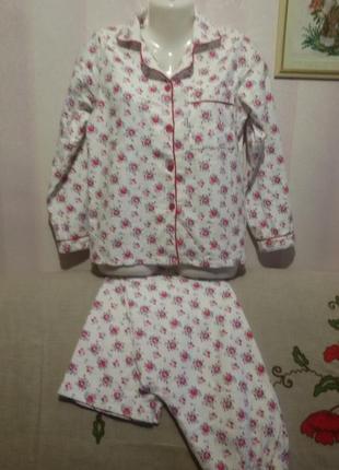 Пижама фланелевая теплая (пог-48 см,поб-52см)