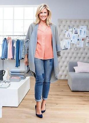 Модные джинсы бойфренд с имитацией заплаток