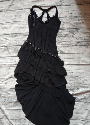 Черное вечернее коктельное  платье