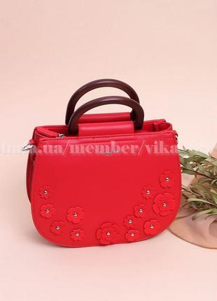 Клатч, сумка через плечо david jones 5166 красная
