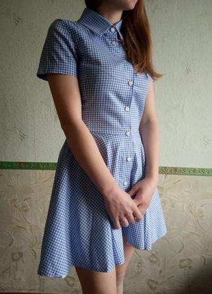 Платье клетка2 фото