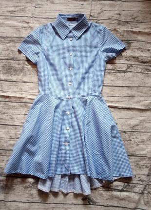 Платье клетка3 фото