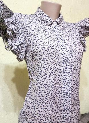 Воздушная блуза от french connection с принтом, изысканная рубашка с рюшами