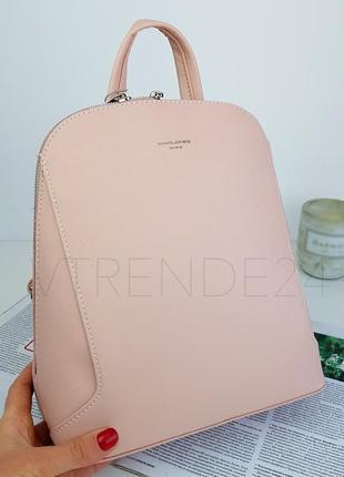 #5830 pink david jones женский стильный строгий рюкзак!