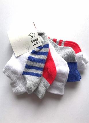 Комплект 3 пары.  коттоновые детские летние носочки , c&a, 9-18 мес.