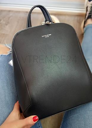 #5830 black david jones женский стильный строгий рюкзак!