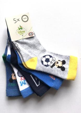 Комплект 5 пар. коттоновые красивые детские носочки, c&a, 9-18 место.