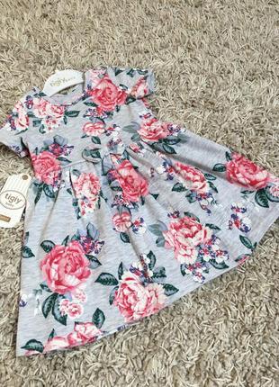 Красивое летнее платье, сарафан для девочки 86-122