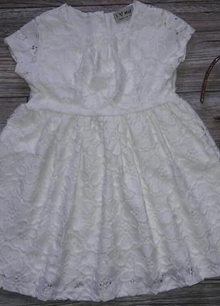 Нарядное кружевное платье р.104