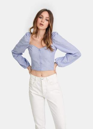 Трендовая блуза новая с объёмными рукавами