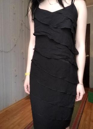 Платье плаття с рюшами вечернее выпускное