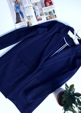 Синий кардиган-пальто с карманами без подкладки бренд next
