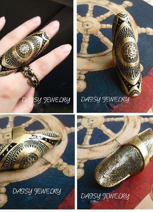 Очень стильное широкое кольцо бронзовое серебряное бохо этно стиль