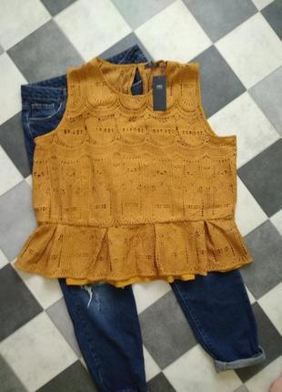 Шикарная кружевная блуза от m&s