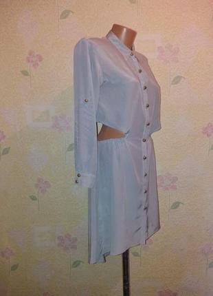 Крутое платье - рубашка, блуза, натуральный шёлк 100%.