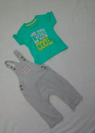 Комплект песочник и футболка на 9-12 мес