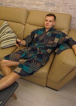 Мужской халат-кимоно chicharo