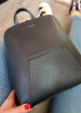 #5709-2 black david jones женский стильный строгий рюкзак!